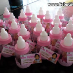 Baby Bottle Giveaways with Figurine for Zoey Nicole's Christening