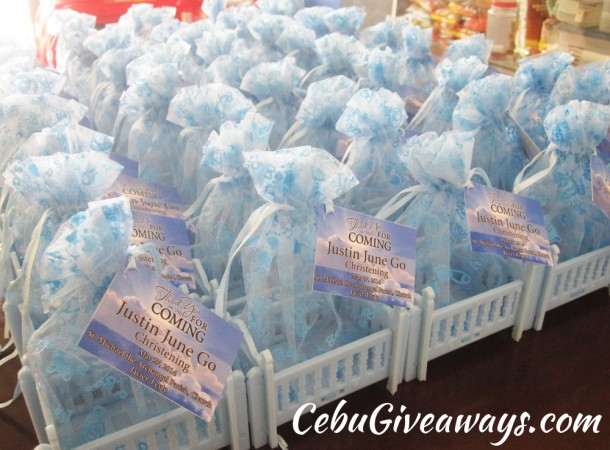 Christening Giveaways (Crib) for Justin Go