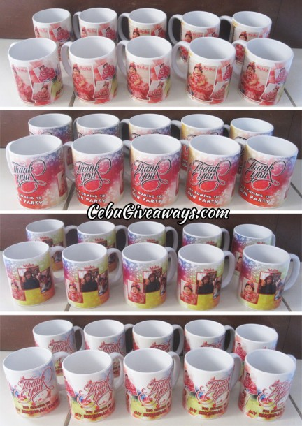 Customized Thank You Mugs for a Birthday
