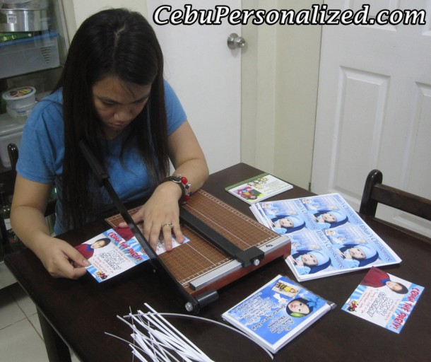 Cutting the Invitation Cards