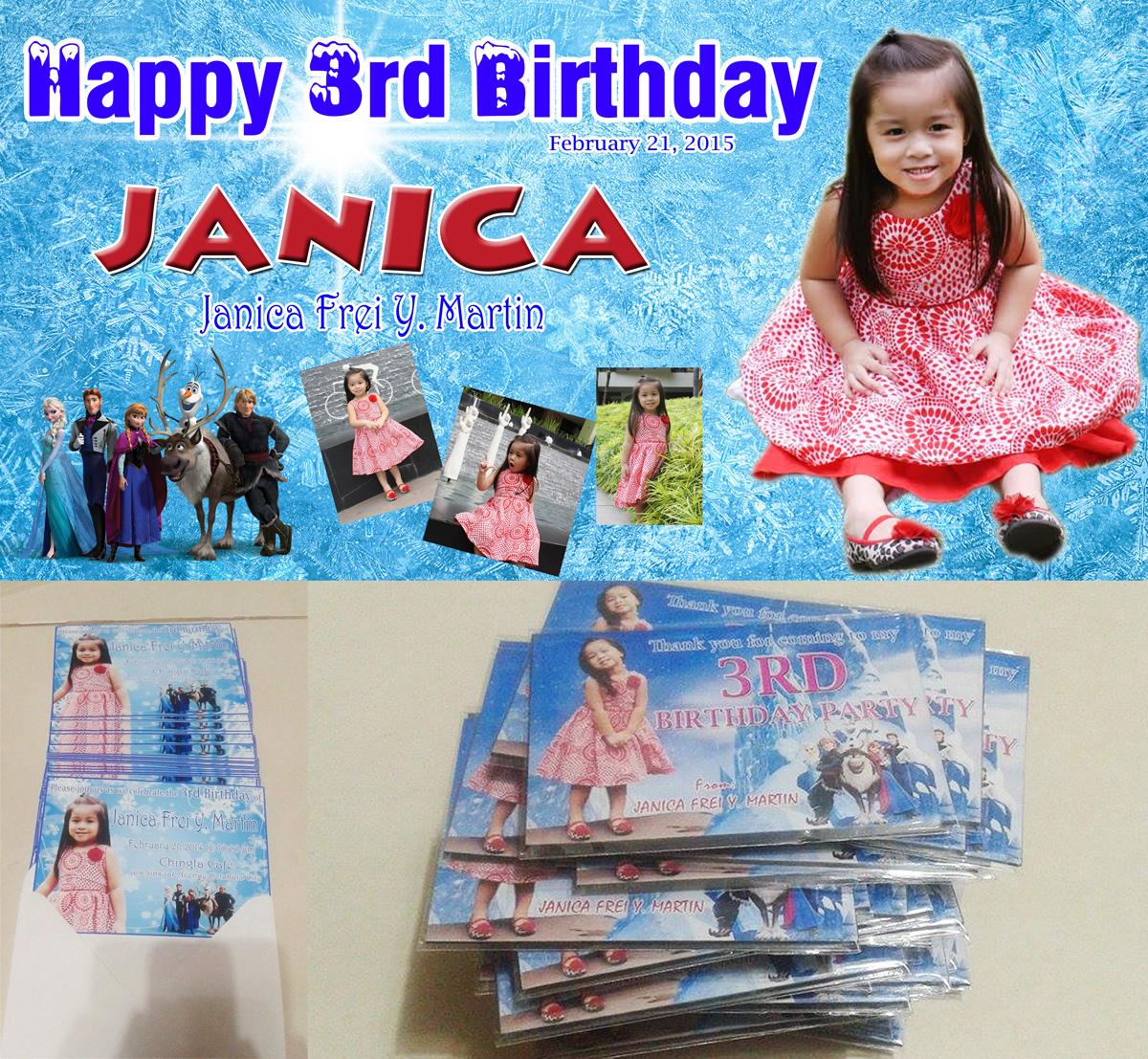 Photo 1st Birthday Invitation Magnets