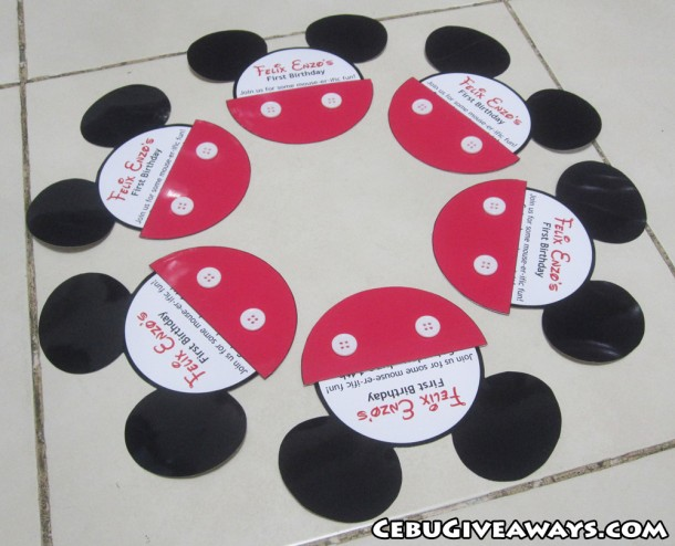 Mickey Mouse Formed Invitations (Felix Enzo)