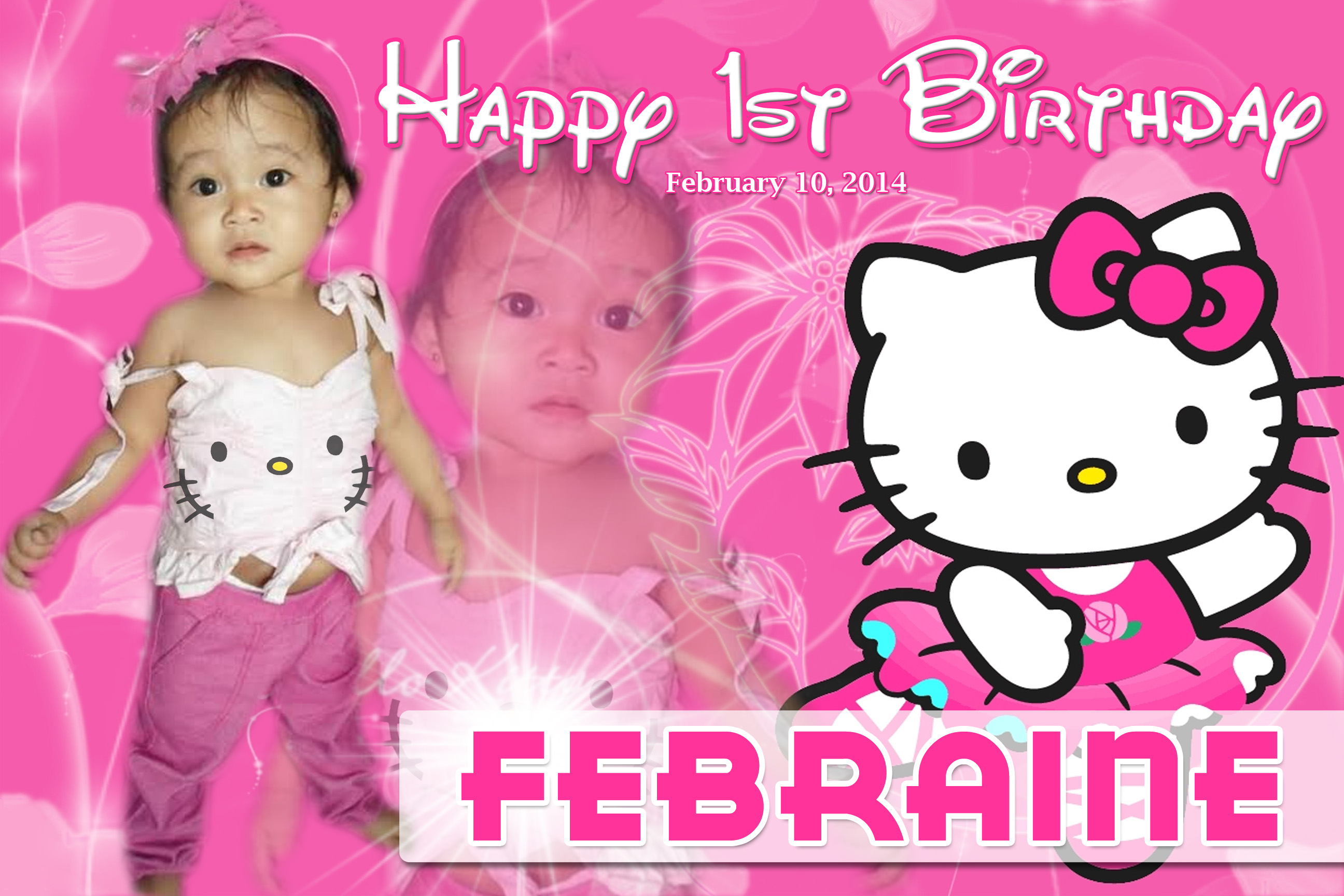 hello kitty birthday tarpaulin www pixshark com images
