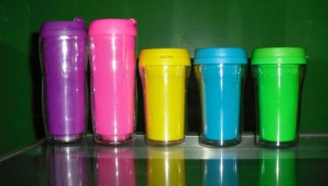 Colorful Small and Large Starbucks Tumblers