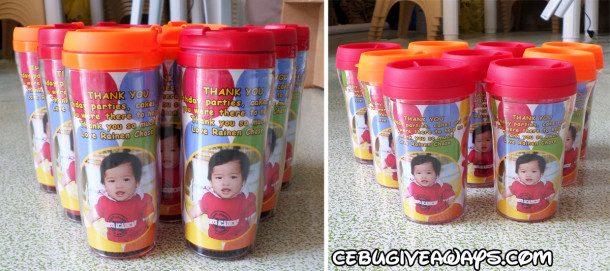 Large & Small Elmo Personalized Tumblers for Australia