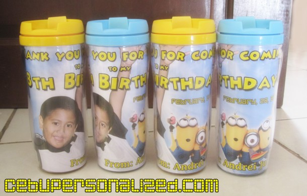 Minions Theme Personalized Tumblers