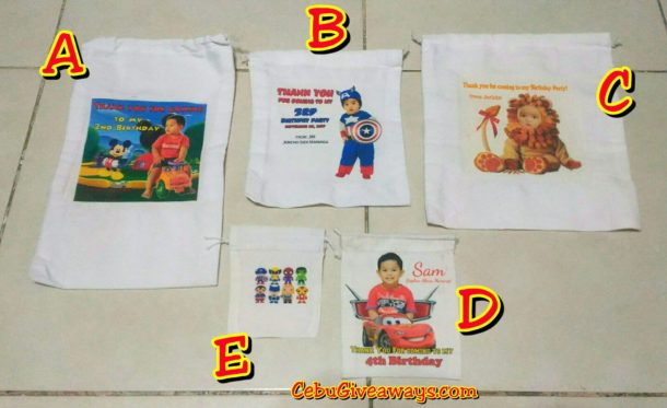 Fabric Bags assorted sizes