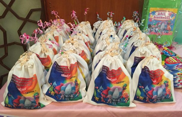 Trolls-themed Fabric Bags